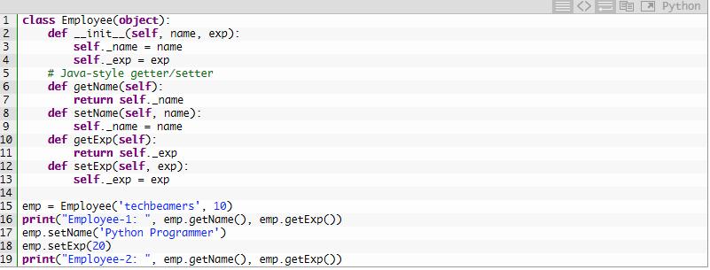 Java-стиль в Python