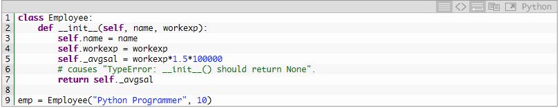 Метод init-неправильно