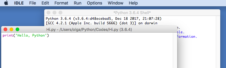 Mac-python-idle
